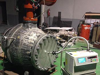 Espectrometría de hélio para deteccion de fugas en válvula reparada.
