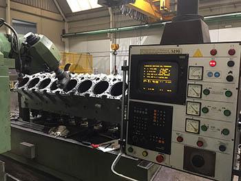 Reparación de bloque de cilindros motor MTU (3)