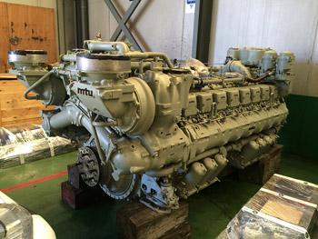 Motor marino MTU396 listo para entrega después de mantenimiento W6.