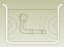 Se generan ondas mediante transductores