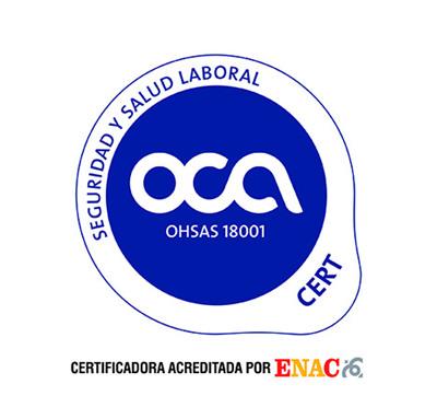 Certificado OCA 18001