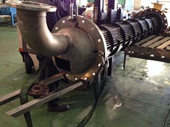 Cesárea practicada en CAP de haz tubular, para reparación de abocardado en uno de los tubos.
