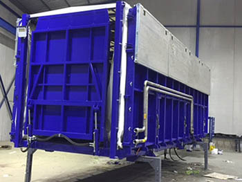 Proceso de fabricación de plataforma de recolección y procesado, para industria agrícola.